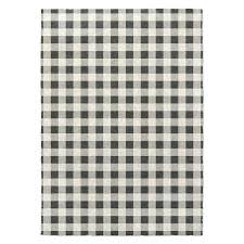 designs gingham black grey ivory area rug rugs 5x7