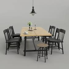 Ikea dining room chairs Bench Ikea Dining Room Set 01 3d Model Cgtrader 3d Ikea Dining Room Set 01 Cgtrader