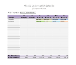 Work Schedule Templates 12 Free Printable Word Excel Pdf