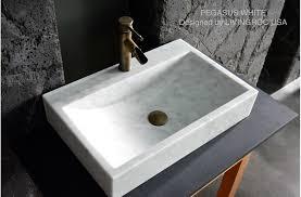 24 white marble bathroom sink stone pegasus white