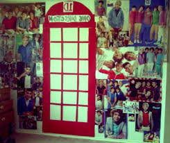 Photo 9 Of 9 My One Direction Room! What Is You Put The Pictures Inside The  Phone Booth (