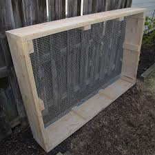 frame with hardware cloth