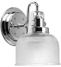 inch polished chrome bath vanity wall light