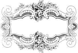 vintage frame design png. Free Clip Art - Ornate Floral Vintage Frame | Oh So Nifty Graphics Design Png