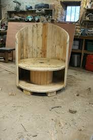 Repurposed Cable Spool Chair: