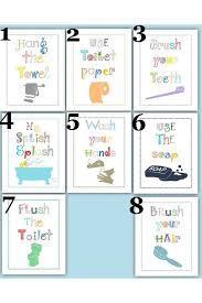 bathroom rules for kids. Wonderful Rules Bathroom Rules For Kids Art Prints Choose Four 5x7 Inside For R
