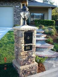 Mailbox landscaping ideas Curb Appeal Brick Mailbox Ideas Mailbox Ideas Majestic Stone With Street Lamp Mailbox Ideas Brick Brick Mailbox Ideas Olisierinfo Brick Mailbox Ideas Mailbox In Formal Setting Brick Mailbox