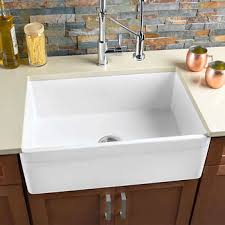 large kitchen sink. HAHN® - FireClay Series Large Single Farmhouse Reversible Kitchen Sink I