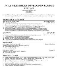 Java Resume Example Developer Sample Vibrant