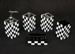 Black And White Bathroom Accessories talentneedscom