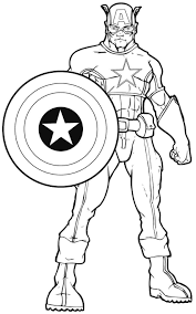Growth Colouring Pages Of Superheroes Coloring Captainamerica3
