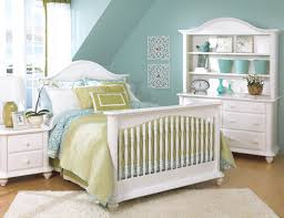 Bedroom Furniture Bristol Bristol White Crib Converted To Full Bed W Nightstand Double