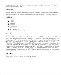 Resume Templates: Process Technician