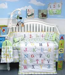 alphabet crib sheet amazon com soho a to z alphabet baby infant crib nursery bedding
