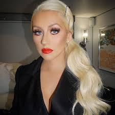 christina aguilera the voice april 13rd 2016 lip lady danger by maccosmetics lashesteaseby lillylashes lillyghalichi brows