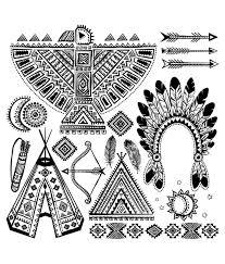Indien D Amerique Differents Symboles Typiques Indiens D