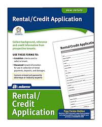 Credit Application For Rental Amazon Com Adams Rental And Credit Application Form 8 5 X 11 Inch