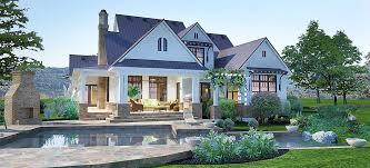 crystal falls modern farmhouse back patio exterior render