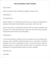 20 employee re mendation letter templates hr templates free with template for letter of re mendation from employer