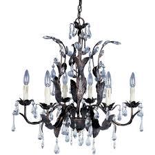 maxim lighting grove 6 light oil rubbed bronze chandelier
