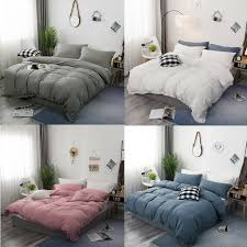 details about 100 egyptian cotton tassels duvet cover sets ikea queen full king bedding sets