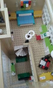 Lego,modular, interior of loft bedroom
