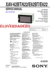 sony xav e622 manuals