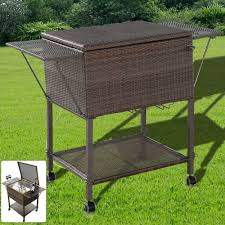 Table Drinks Cooler Details About Bar Bottle Cooler Garden Outdoor Storage Rattan