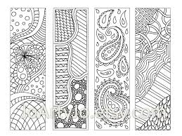 Small Picture Zendoodle Bookmarks DIY Zentangle Inspired Printable