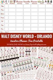 Walt Disney World Orlando Vacation Planner Free Printable Updated