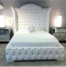 Grey Tufted Bed Frame Gray Tufted Headboard Tufted Bed Grey Velvet ...