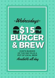 Burger Brew Simple Design Template Easil