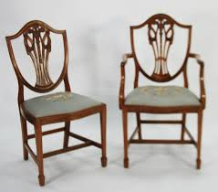 hepplewhite shield dining chairs set: lot a a set of eight hepplewhite style carved mahogany shield back dining chairs