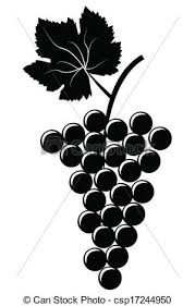 grapes clipart black and white. bunch of grapes clipart black and white