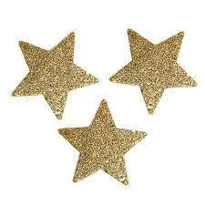 Sterne Gold 65cm Mit Glimmer 36st