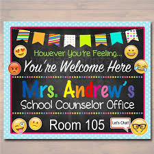 office board decoration ideas. school counselor door sign child back to hanger office board decoration ideas
