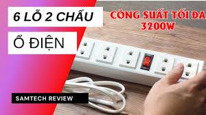 Ổ cắm Điện Quang ĐQ 001A-01 6 lỗ 2 chấu công suất 3200W - YouTube