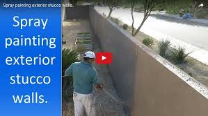 for painting stucco wall