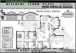 australian split level house plans floor plan home ranch style bedroom canadian raised side