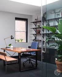 masculine office. Since Business Could Have The Elephant Team Working From Dawn Till Dusk, Goal Was To Embody Spirit Of A \u201cresimercial\u201d Interior\u2014an Office-home Hybrid Masculine Office