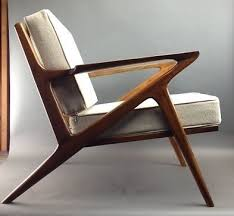 Pair Mid Century Danish Modern Lounge Chairs - SOLD