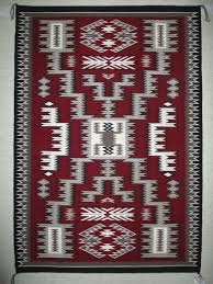 storm pattern rug by navajo weaving artist marylin jim great colors very detailed
