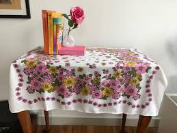 summer outdoors wallpaper.  Wallpaper Tablecloth Square Vintage Floral Print 1960s Summer Outdoors Awesome Design With Wallpaper