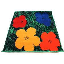 andy warhol rugs rug sunset wool hanging after flowers red blue