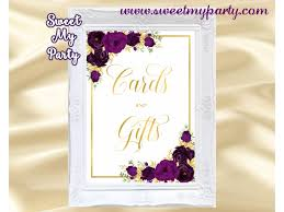 eggplant cards and gifts sign printable gold cards and gifts sign 19w