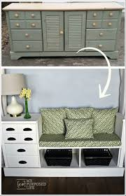 repurpose furniture ideas. Bench Made From A Dresser Repurpose Furniture Ideas