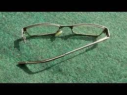 how to repair broken glasses hinge less