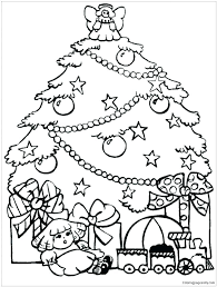 Christmas Trees Coloring Pages Predragterziccom