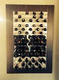 Vino Wall Wine Rack 10 Black U0026 White