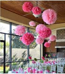 Tissue Balls Party Decorations 100pcs 100inch FREE SHIPPING Tissue paper Pom Poms Wedding 1